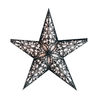 STAR LANTERN RANI BLACK/WHITE