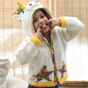 ANIMAL HOOD KIDS SWEATER