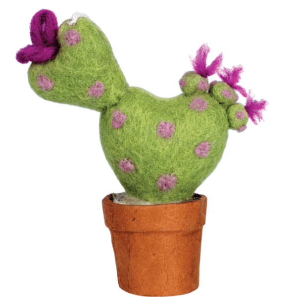 FELT CACTUS ORNAMENT WITH HEART