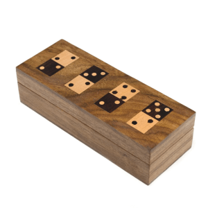 WOOD DOMINO GAME SET