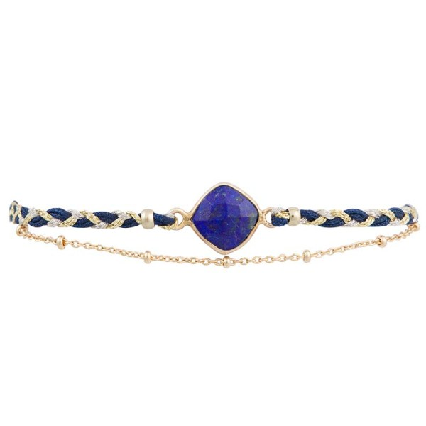 Braided Silk Bracelet – Blue