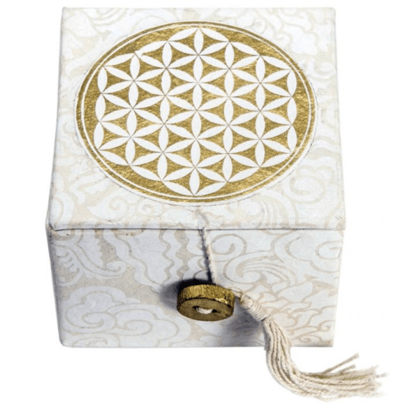 SINGING BOWL WITH BOX – FLOWER OF LIFE