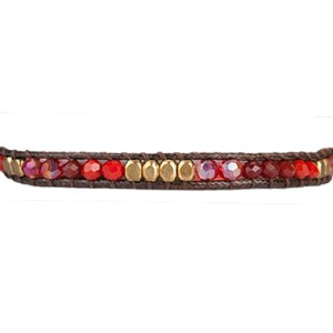 Stackable Crystal Bead Bracelet – Red