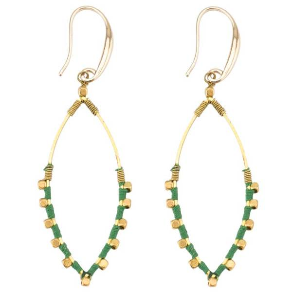 Oval Color Splash Earrings – Green