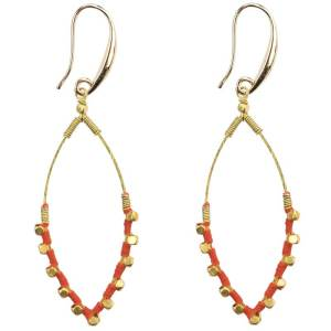 Oval Color Splash Earrings – Orange