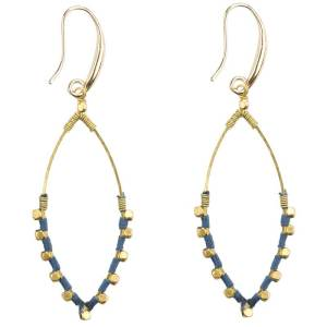 Oval Color Splash Earrings – Blue