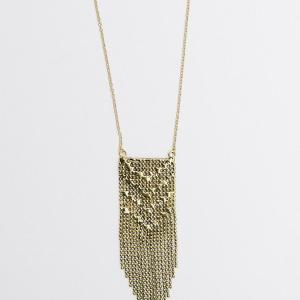 Metal Mesh Necklace – Brass