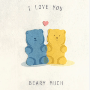 GUMMY BEARS LOVE CARD