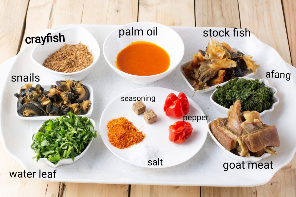 Afang Soup Ingredients