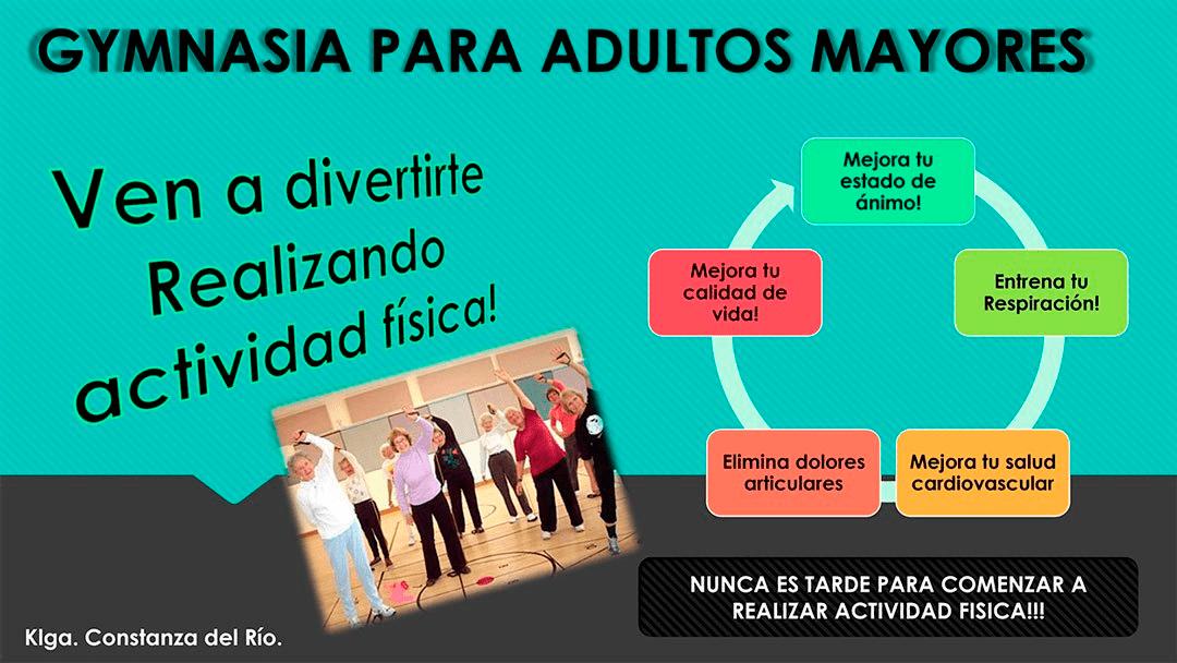 Comienza gimnasia para Adultos Mayores