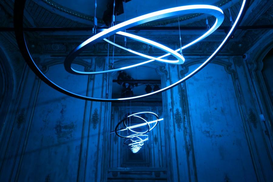 Neon Light Art Installation