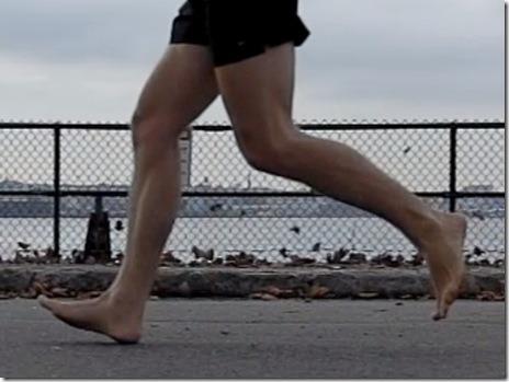 Barefoot Runner Heel Strike