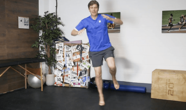 Lateral Hopping Drill for Ankle Stability