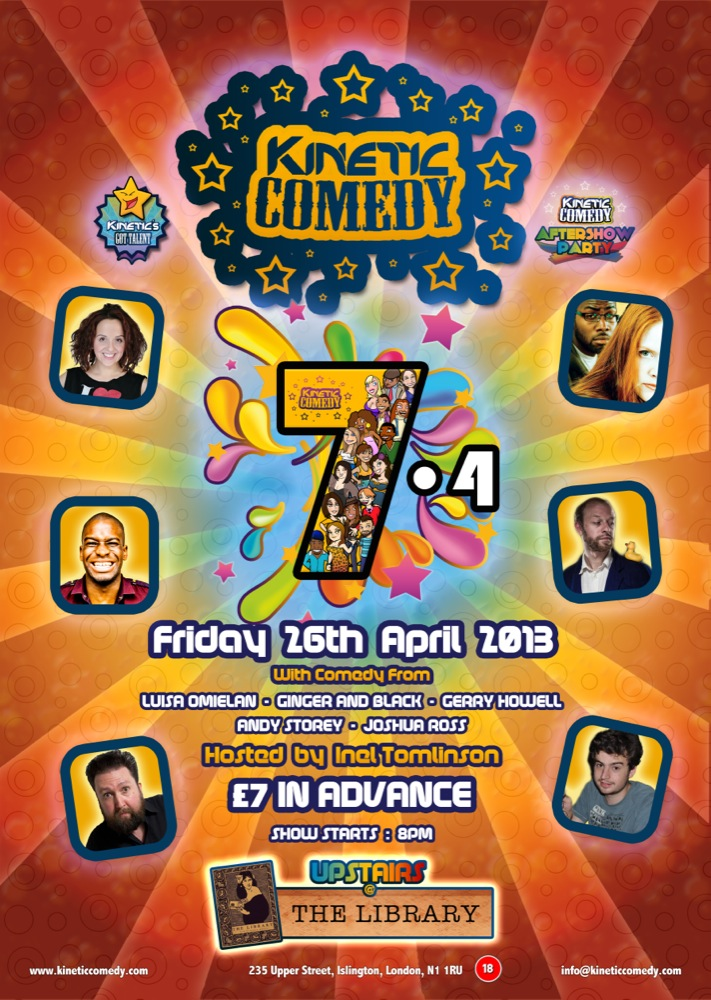 Kinetic Comedy 7.4 is THIS FRIDAY