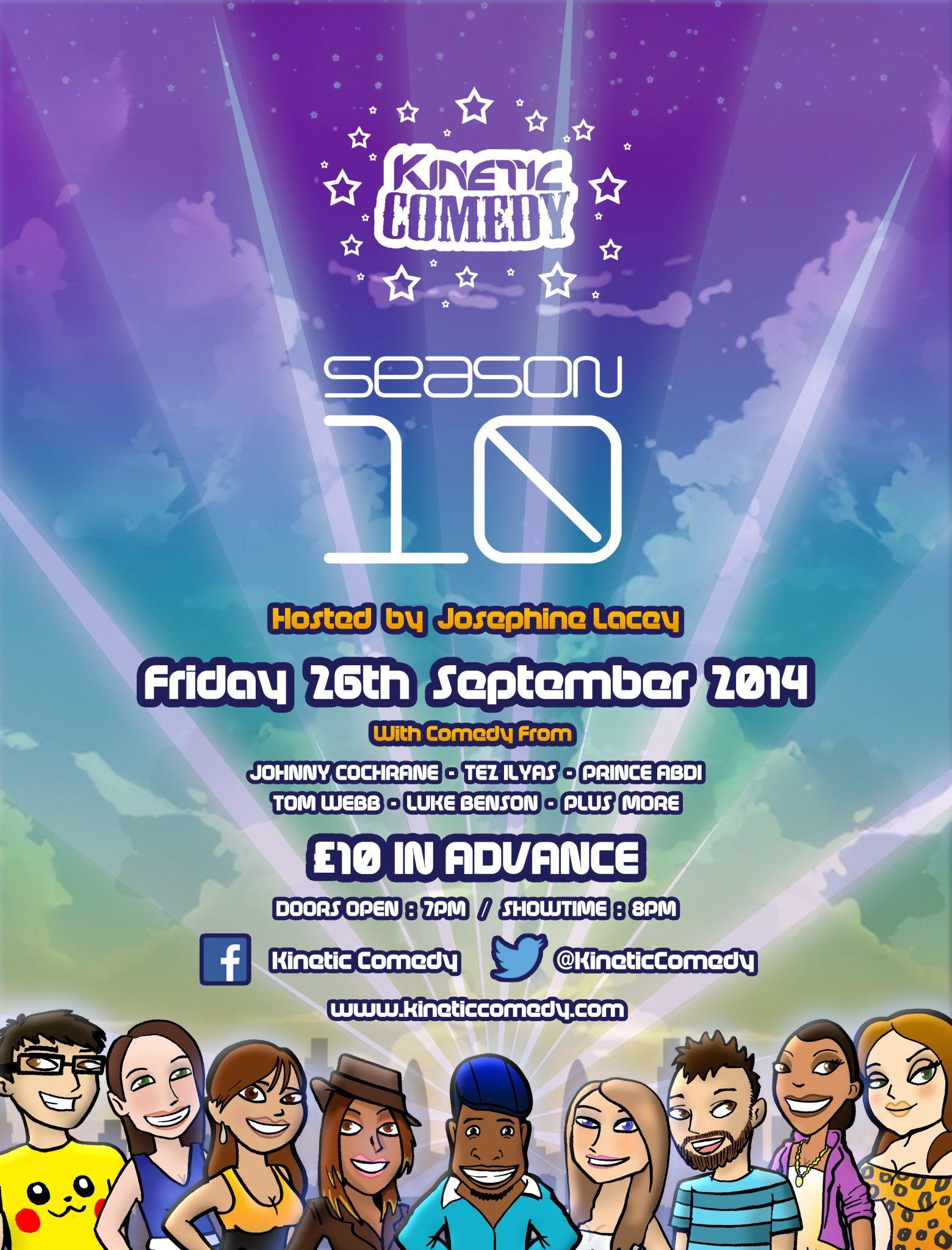 Kinetic Comedy 10.3 – Friday 26th September 2014 – Hosted By Josephine Lacey
