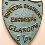 Plate from a 5 Ton Butters Brothers crane.