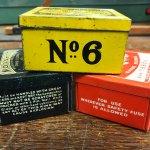 Detonator tins from Nobel's Explosives, Glasgow.