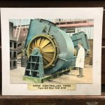 Hand coloured image of a large fan made by Howden's of Scotland Street, Glasgow.