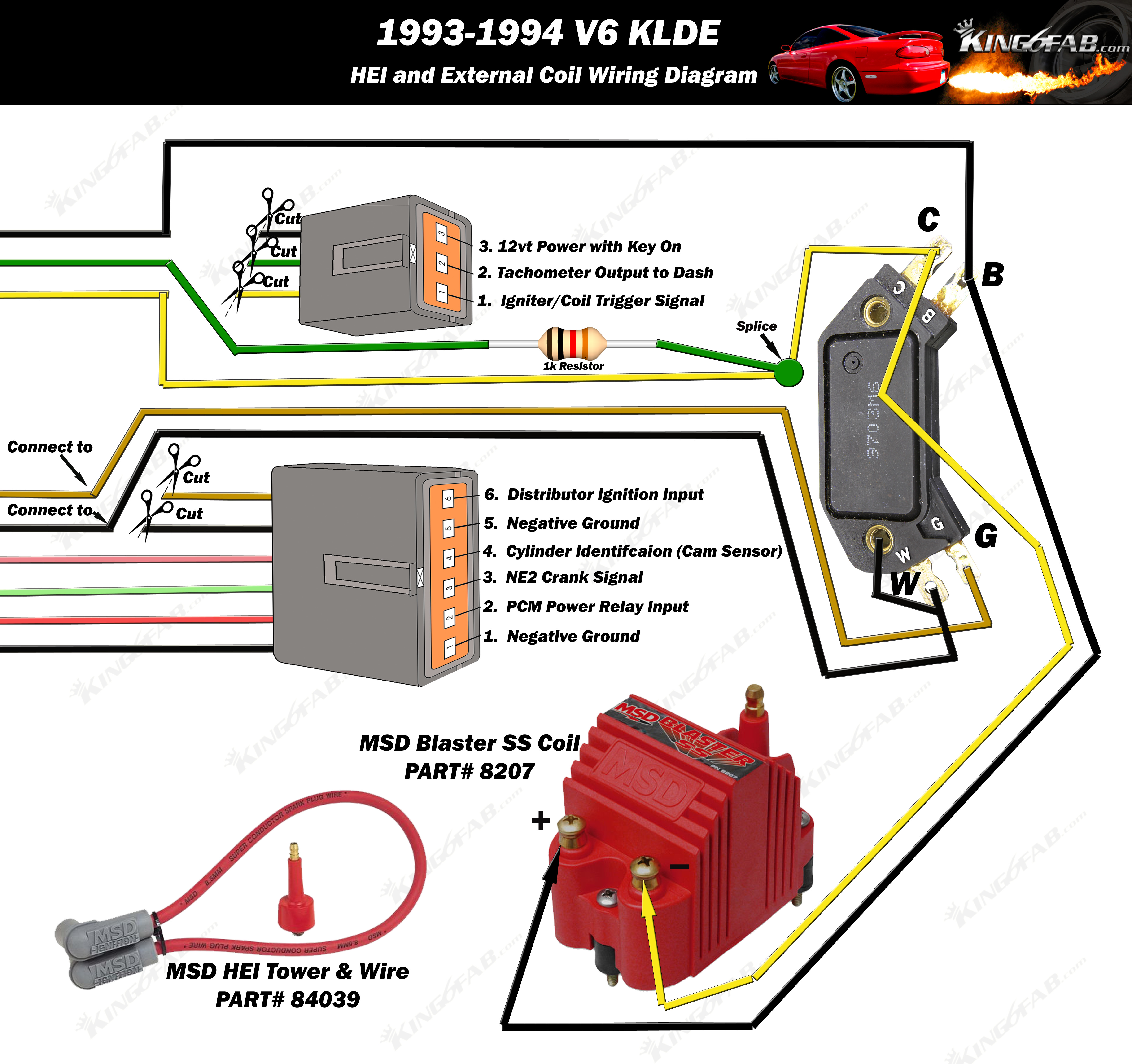 [SCHEMATICS_4CA]  HEI Wiring Diagrams – Welcome to King6fab | Mazda Mx6 Wiring Diagram |  | King6fab