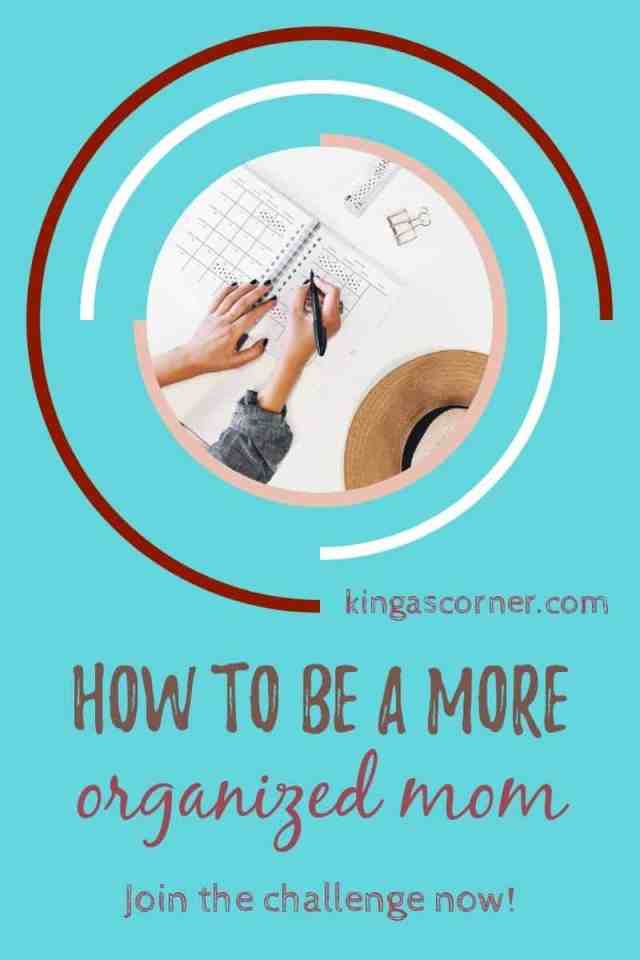 how to be an organized mom