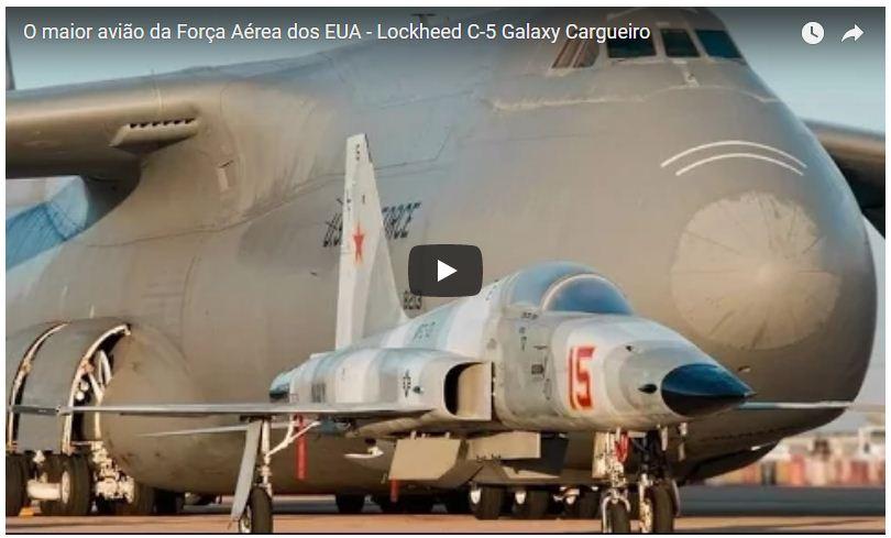 Lockheed C-5 Galaxy Cargueiro - O maior avião da Força Aérea dos EUA