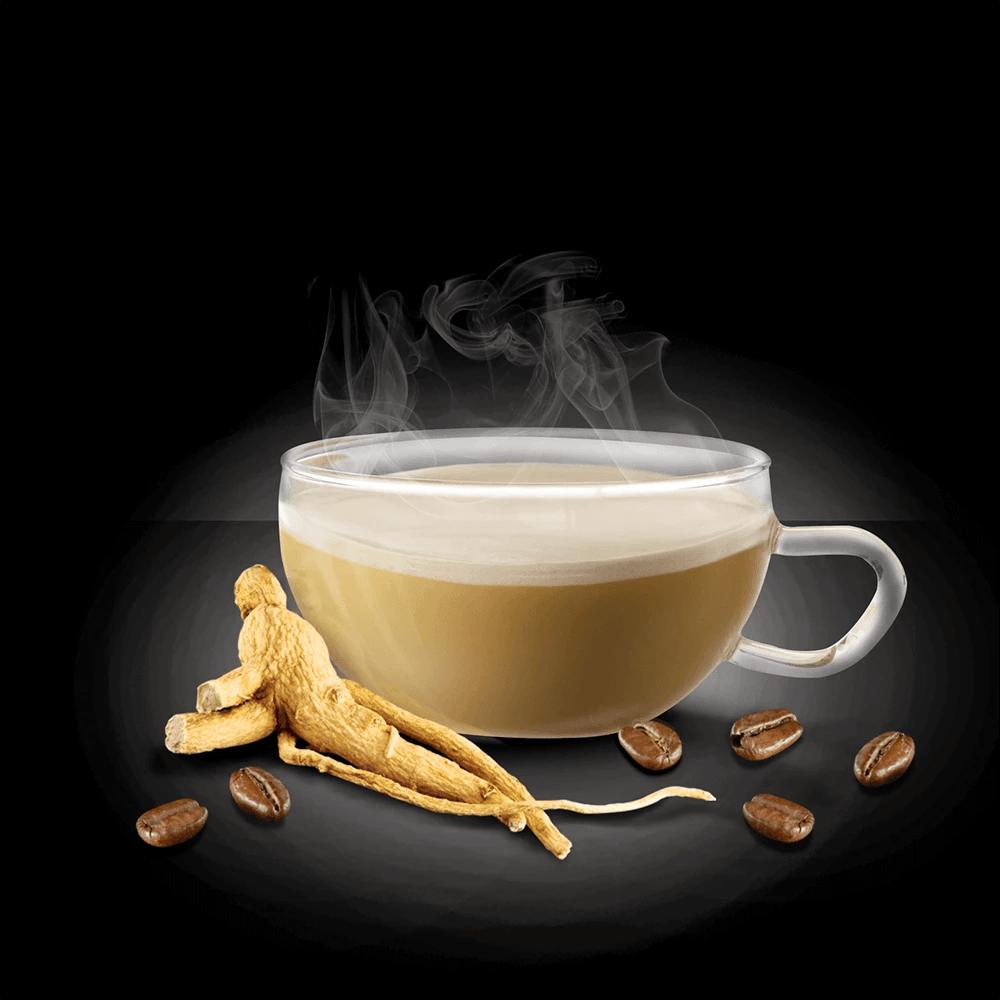 Caffè al Ginseng - 20 bustine solubili con Zucchero di Canna | King Cup