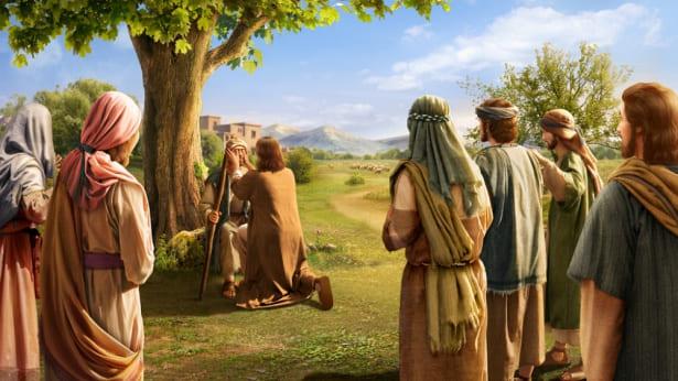 主耶稣医治瞎子
