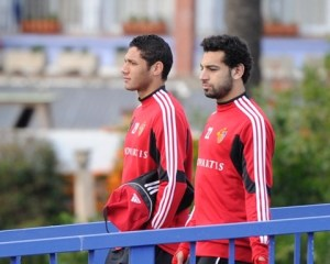 Egypt's top two talents practicing side-by-side at FC Basel.