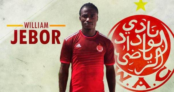 Wydad Casablanca sign Liberian striker William Jebor