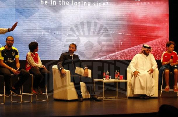 Robert Pires, Alongside BFA president Shaikh Ali during the trivia