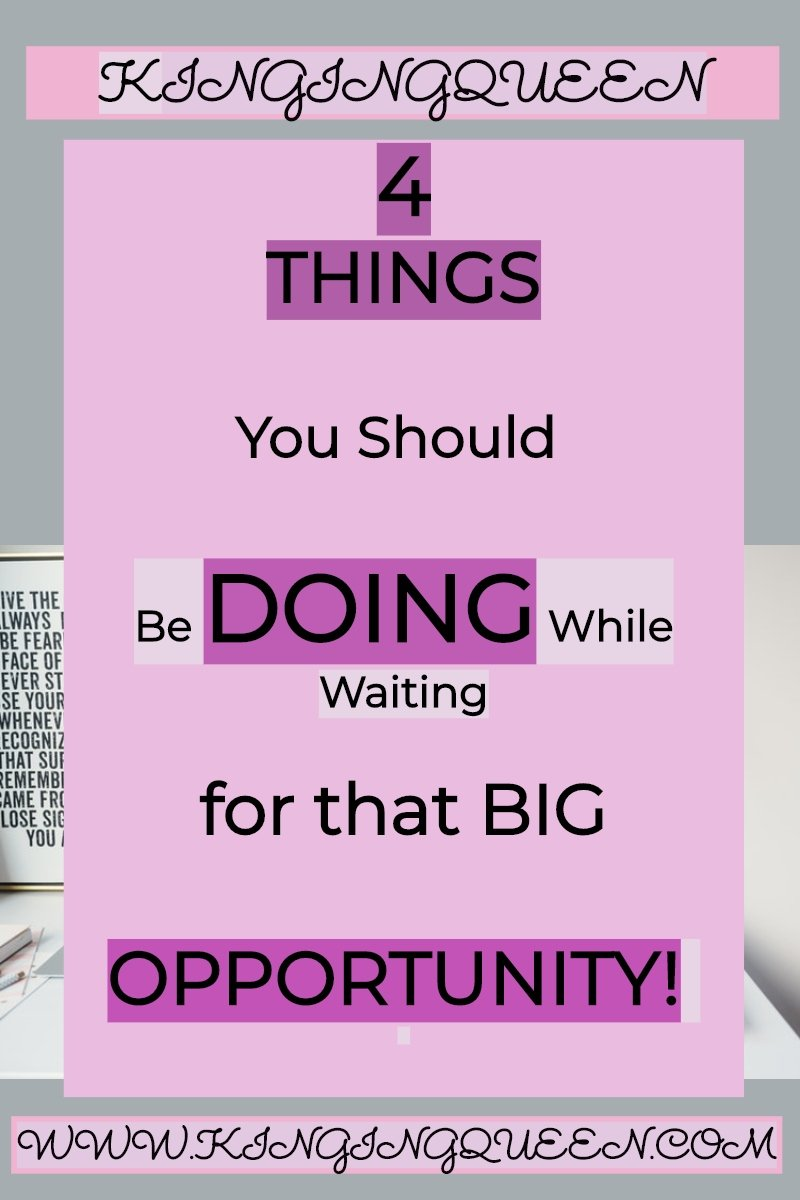 graphic showing 4 things you should do while waiting