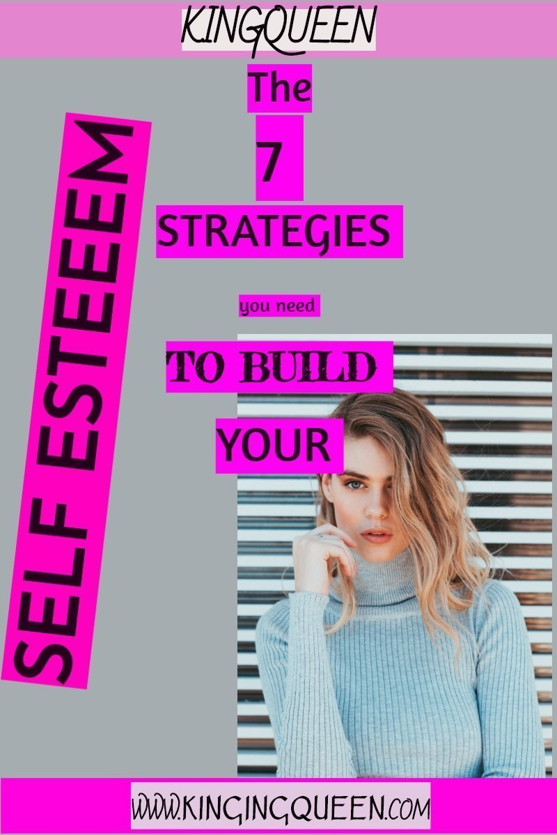 photo with words 7 strategies for building your low self esteem