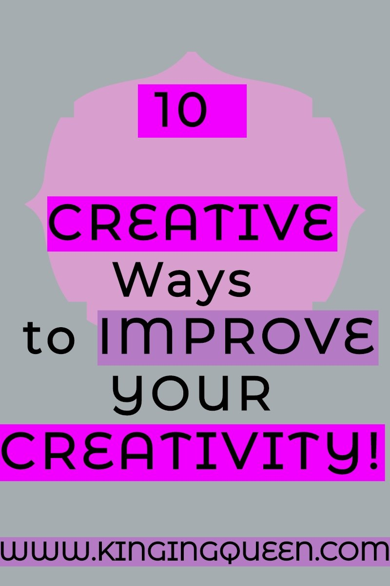 Graphic showing creative ways to boost your creativity: how to be more creative