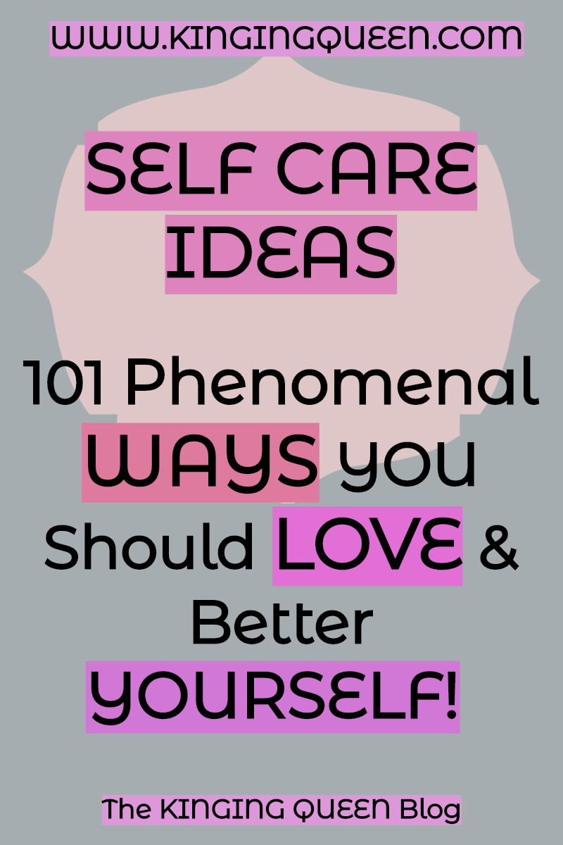 graphic showing self care ideas