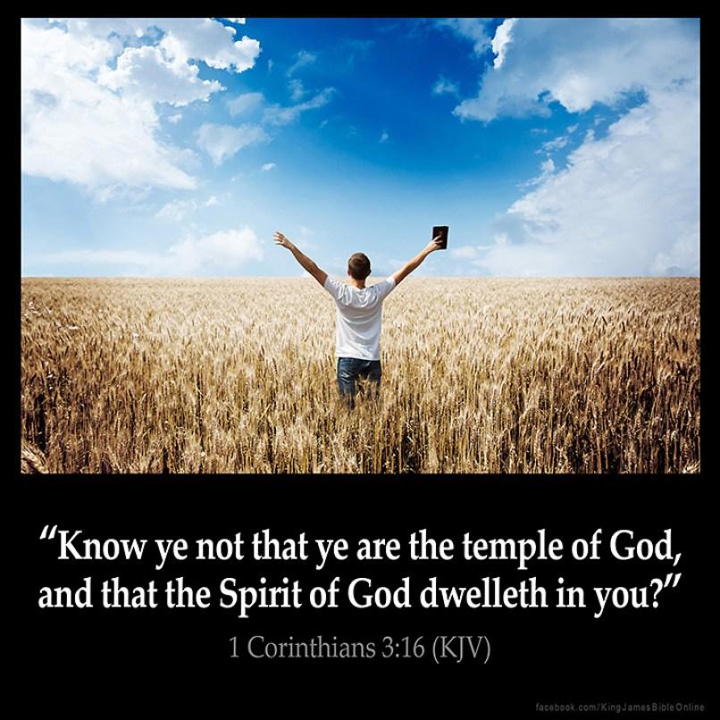 1 Corinthians 3:16 Inspirational Image