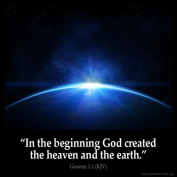 Genesis 1:1 Inspirational Image
