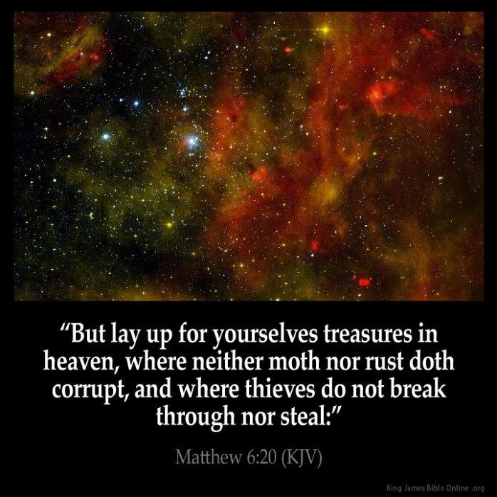 Matthew 6:20 Inspirational Image