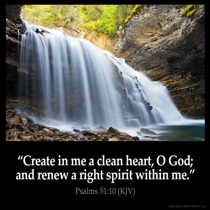 Psalms 51:10 Inspirational Image