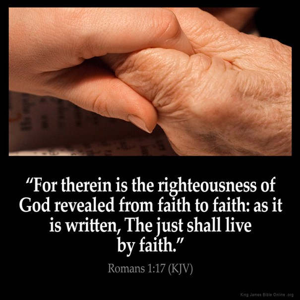 Romans 1:17 Inspirational Image