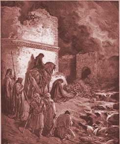 Nehemiah Chapter 2: Nehemiah Views the Ruins of Jerusalem's Walls
