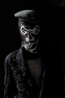 Beret - Maison Laulhere | Mask - Julien David | Top - Colonna | Jacket - Julien David | Trousers - Julien David