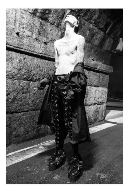 Coat - DKNY | Trousers - Wet Nature | Belt - Calvin Klein | Socks - Falke | Shoes - Nicopana | Gloves - stylist's own