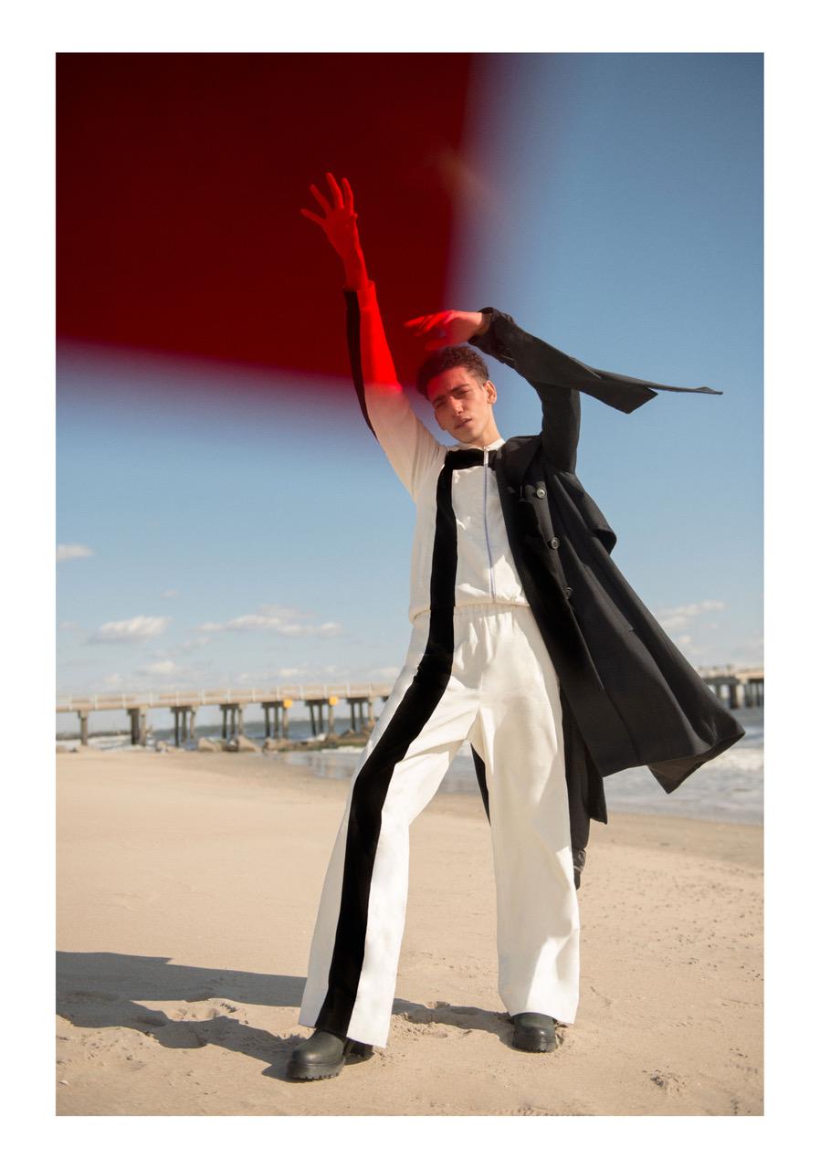 Coat - Claudia Li | Jacket - Linder | Trousers - Linder | Shoes - Stylist's own