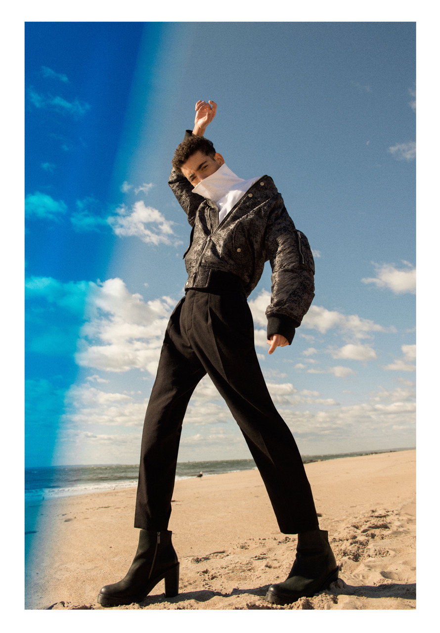 Jacket - Fingers Crossed | Shirt - Duckie Brown |Trousers - Fingers Crossed | Boots - Stylist's own