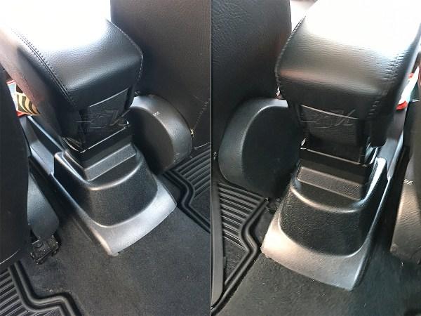 Consola descansabrazos universal hecha de plastico ABS de la más alta calidad y tapa forrada en vinipiel para uso rudo, incluye brack adaptador para fijarse sobre la consola actual del vehiculo, compatible con Volkswagen Vento y Volkswagen Polo.