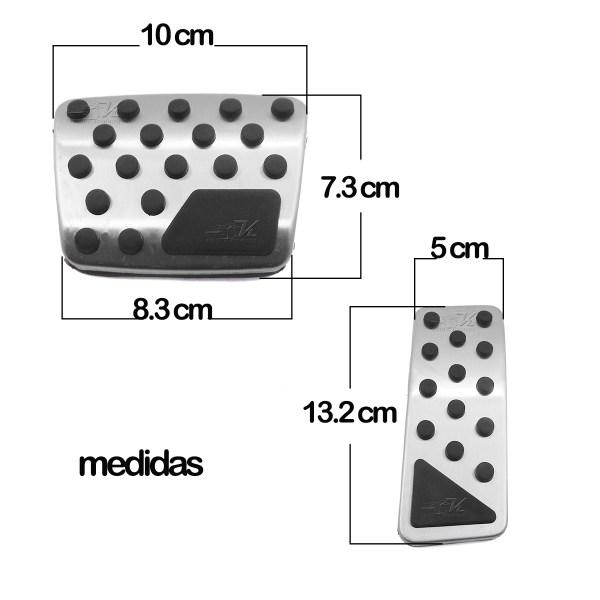 Set de cubre pedales compatibles con Jeep Cherokee 2.4 L y 3.2 L hechos de aluminio con caucho vulcanizado, se instalan facilmente en el mismo lugar donde van los originales sin necesidad de hacer adaptaciones.