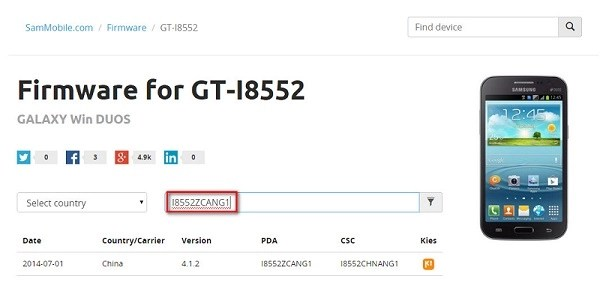 GT-I8552 Stock Firmware Download on SamMobile