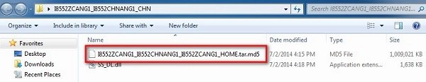 Unzip GT-I8552 Stock firmware downloaded from SamMobile