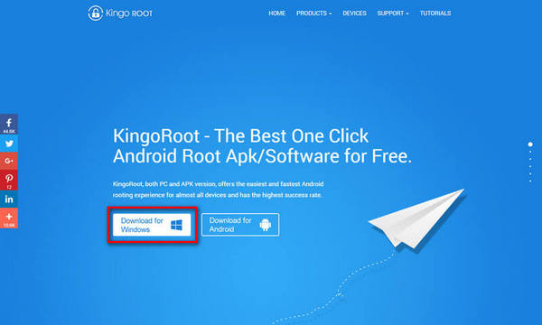 Download KingoRoot(Windows), the best one-click Android root tool.