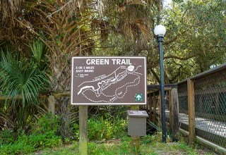 Parks & Recreation Green Trail Sign Made with King ColorCore® Brown/White/Brown